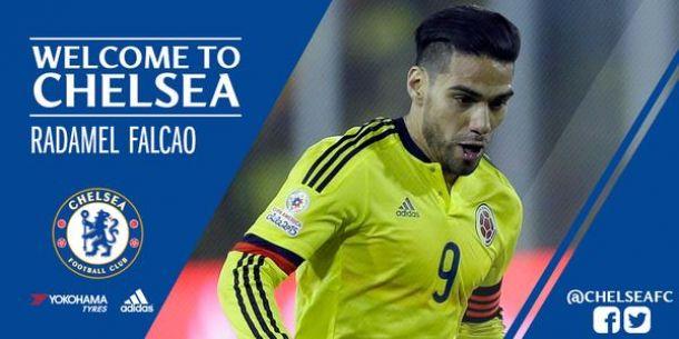 Oficial: Radamel Falcao ruma ao Chelsea por empréstimo
