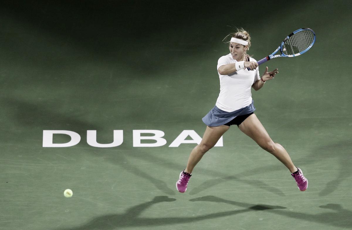 Cibulkova sofre, mas vira contra Arruabarrena em Dubai e garante primeiro triunfo no ano