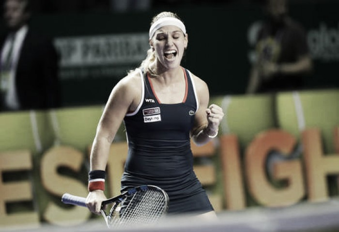 Cibulkova vence Kuznetsova de virada e está pela primeira vez na final do WTA Finals