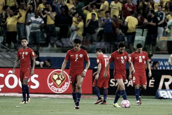 Qualificazioni Russia 2018- Clamoroso Cile 3-0 in Brasile e niente mondiale