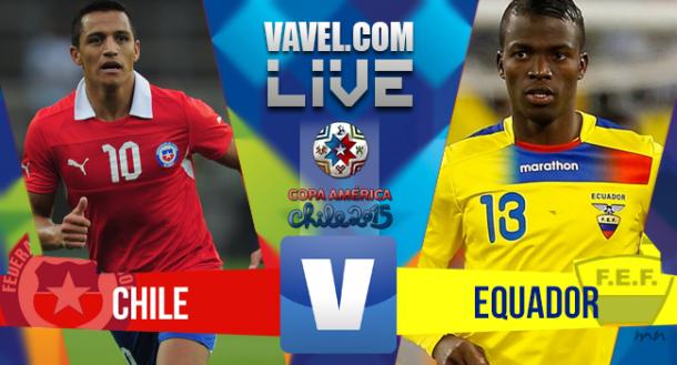 Risultato Cile - Ecuador, Copa America 2015 (2-0)