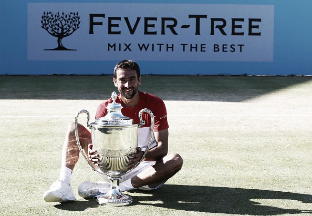 Cilic vira contra Djokovic em Queen's e volta a vencer título após mais de um ano
