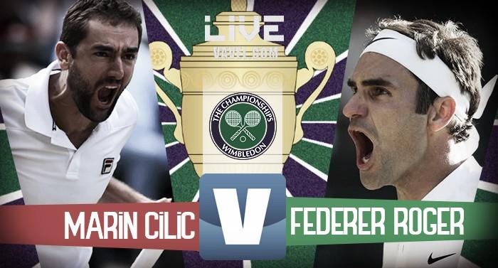 Risultato Marin Cilic 0-3 Roger Federer per la finale di Wimbledon 2017