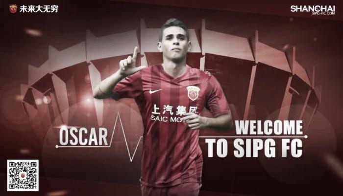 Oscar acerta com Shanghai SIPG em nova transação recorde