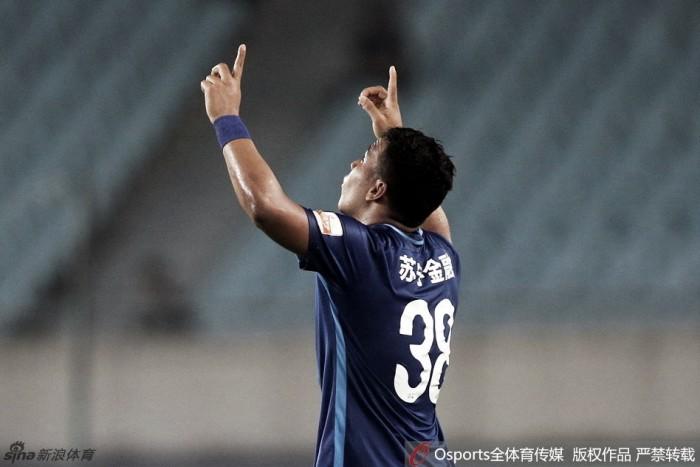 Colombiano Roger Martínez marca duas vezes e Jiangsu vence Guoan de virada na China