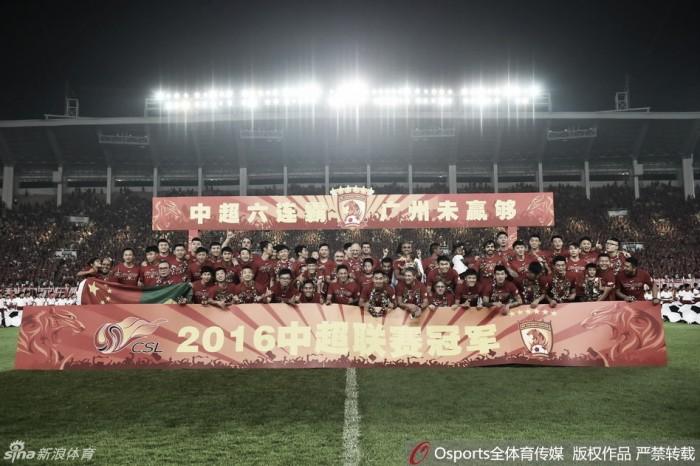 Guangzhou Evergrande empata com Yanbian e comemora hexacampeonato em casa