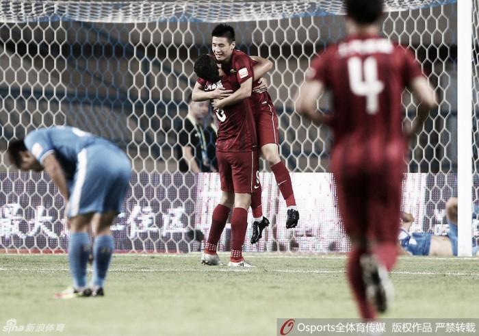 Sem Hulk e Darío Conca, Shanghai SIPG empata com Guangzhou R&F em show de chinês Wu Lei