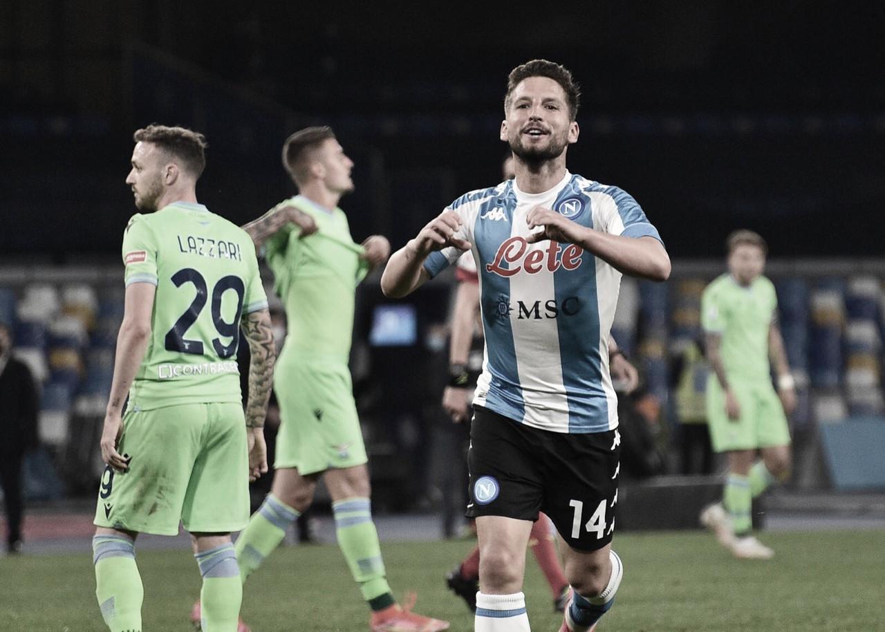 Napoli goleia Lazio em jogo movimentado e segue na briga por vaga na Champions League