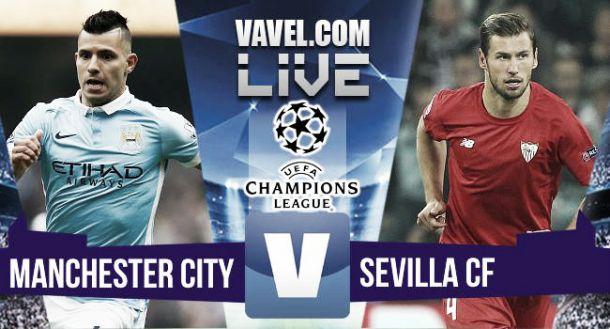 Live Manchester City - Siviglia, risultato Champions League 2015/2016  (2-1)