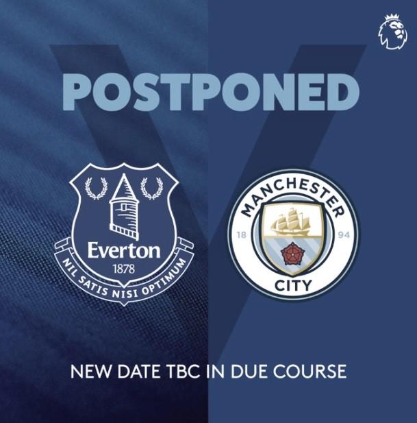Aplazado por COVID el Everton-ManCity