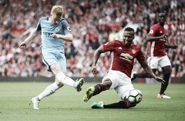Manchester United 1-2 Manchester City: Visitors hold on for derby day bragging rights