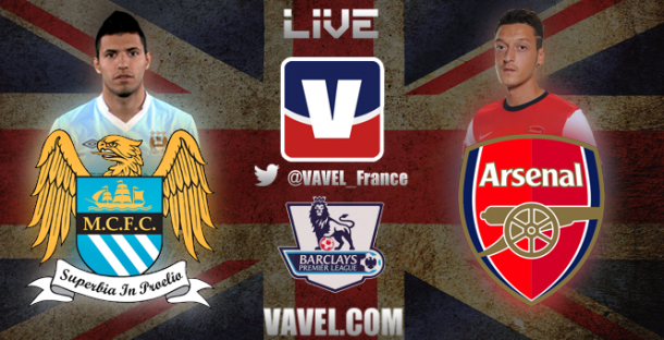 Match Manchester City 6-3 Arsenal en Premier League 2014