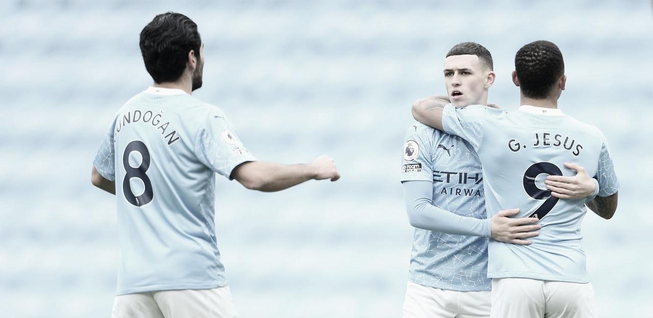Manchester City economiza no placar, mas vence Sheffield e permanece na liderança da Premier League