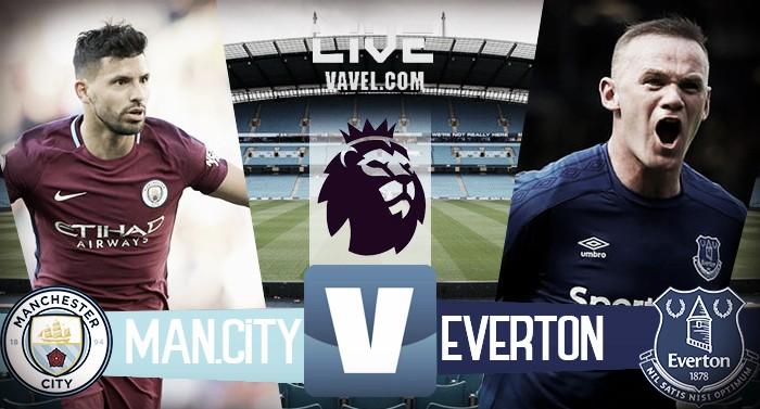 Terminata Manchester City-Everton, Premier League 2017/18 LIVE (1-1): Sterling risponde a Rooney