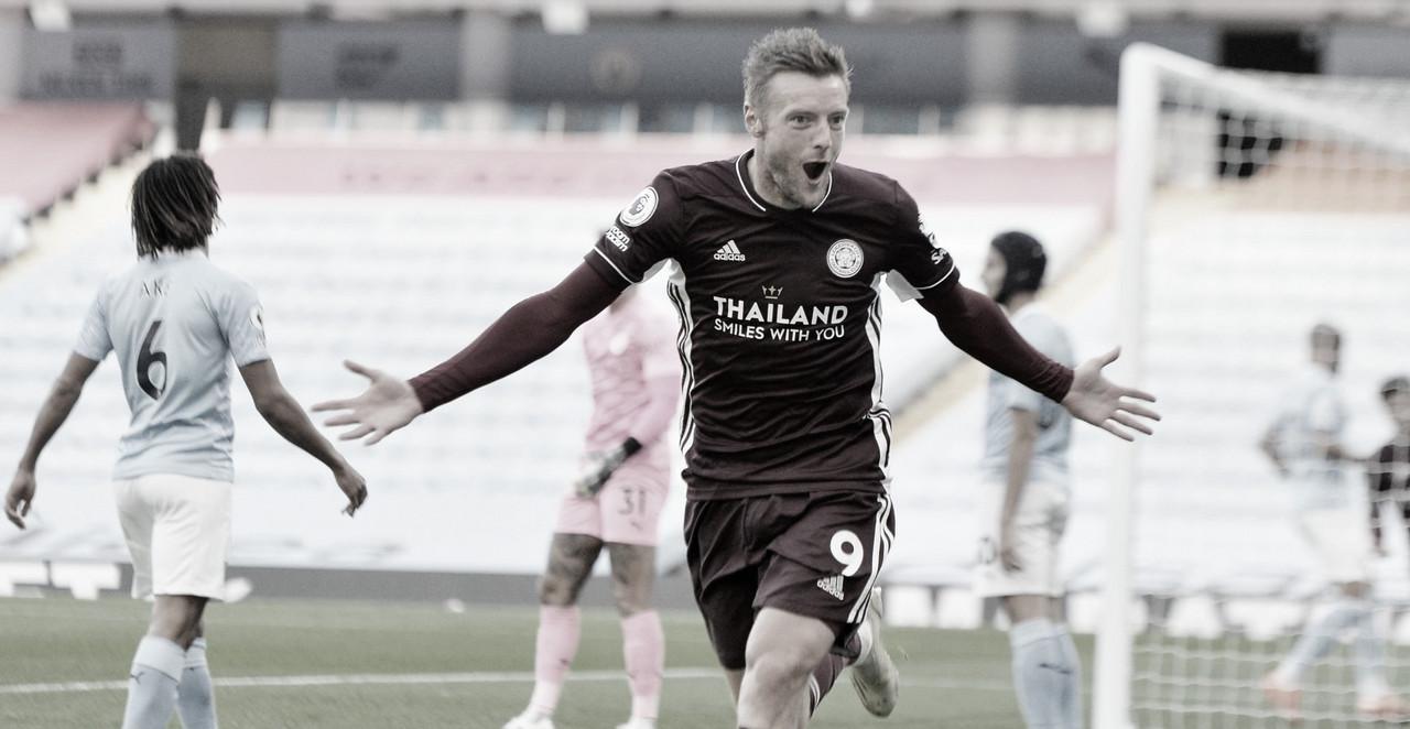 Com hat-trick de Vardy, Leicester goleia Manchester City com autoridade fora de casa