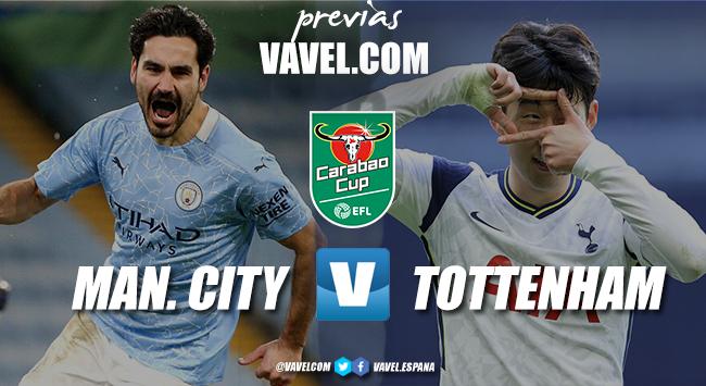 Previa Manchester City - Tottenham: primer título en juego