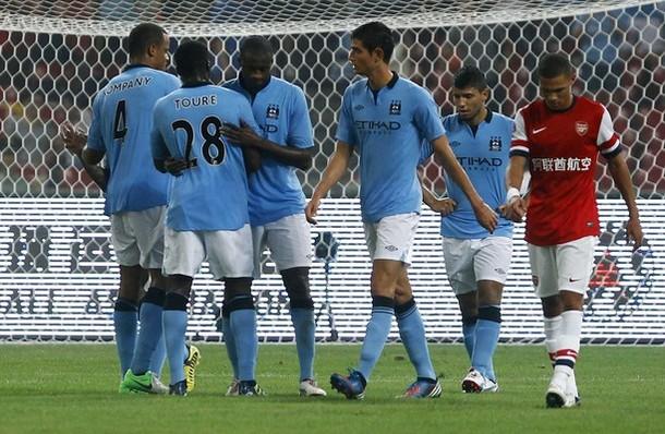 Il Manchester City batte l'Arsenal in amichevole a Pechino