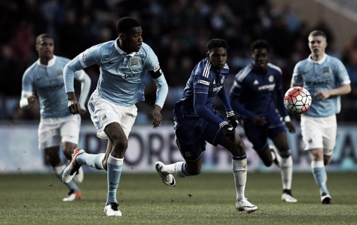 Manchester City U18s 1-1 Chelsea U18s: Honours even after Youth Cup final first-leg