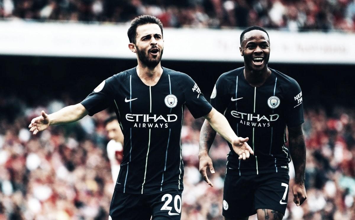 Manchester City domima confronto, vence Arsenal e estreia com pé direito na Premier League
