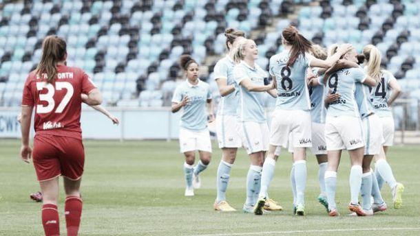 Man City Women 2-0 Liverpool Ladies: Duggan and Christiansen send Blues into quarter-finals