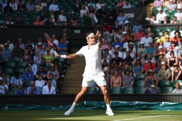 Wimbledon 2015: Federer dipinge, Bautista Agut crolla