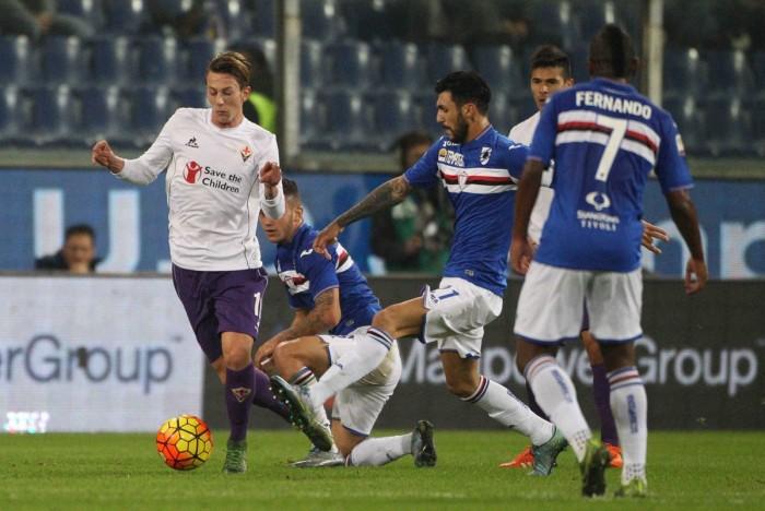 Risultato Fiorentina 1-1 Sampdoria in Serie A 2016/17: pareggia di testa Muriel!