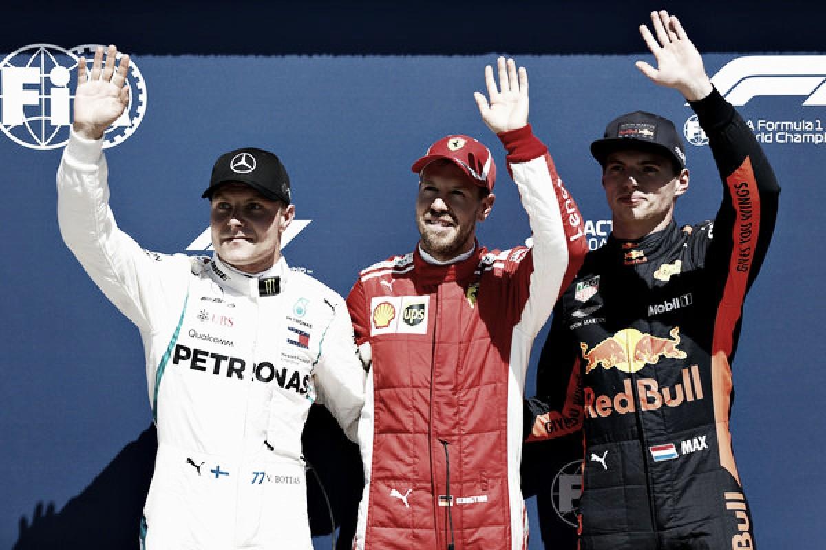 Tres escuderías en las tres primeras posiciones con un Vettel de récord