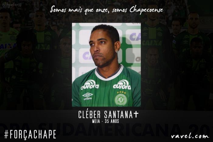 Cléber Santana: meia se encontrou na Chapecoense e virou simbolo de liderança