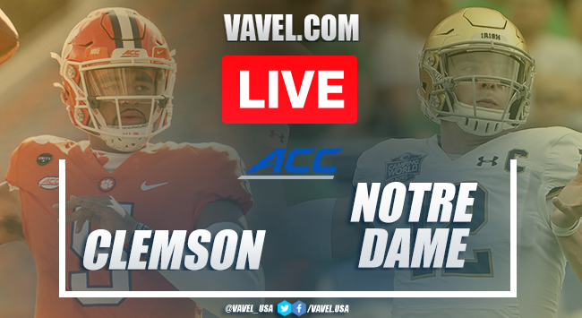 Clemson Tigers vs Notre Dame Fighting Irish: Live Stream Online TV Updates and How to Watch 2020 ACC Football (40-47)