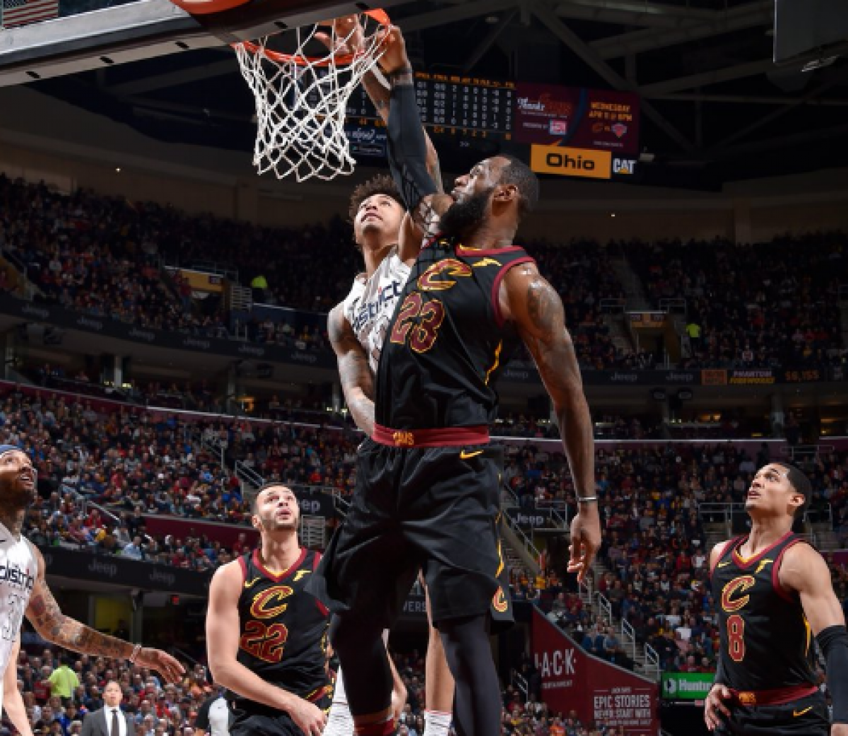 NBA - Ultimo quarto da favola, Cleveland ribalta i Washington Wizars