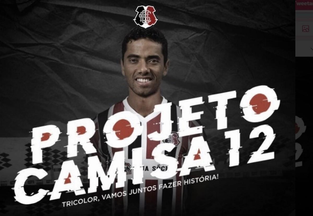 Projeto Camisa 12: Santa Cruz anuncia retorno de Carlinhos Paraíba