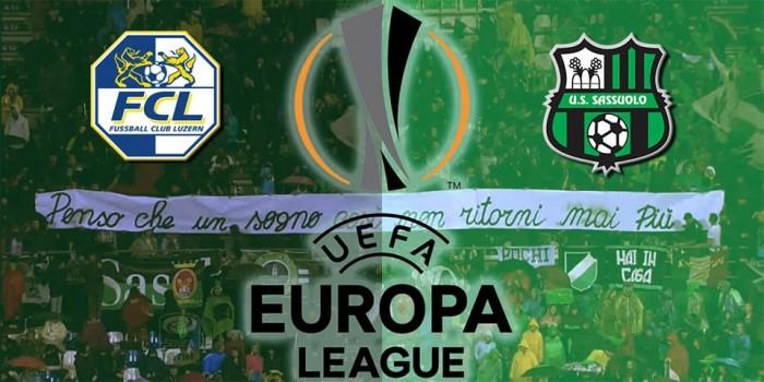 Live Lucerna - Sassuolo (1-1). Vantaggio Lucerna con M.Schneuwly, pareggio su rigore di Berardi. Rigore sbagliato dal Lucerna. Direttaterzo turno preliminare Europa League, gara d'andata