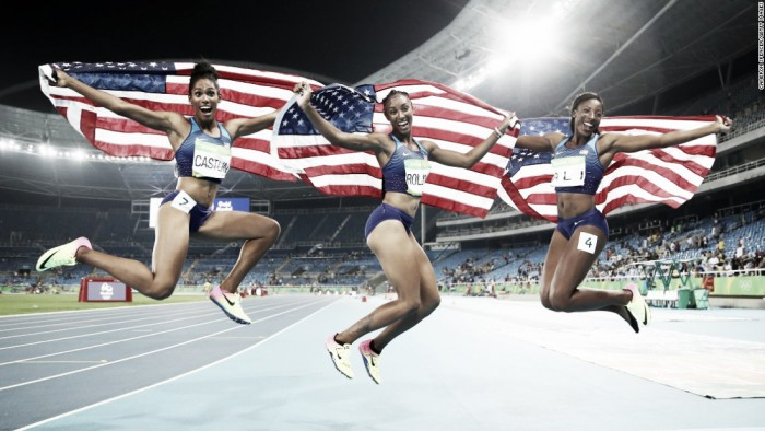 Rio 2016: Rollins takes gold as America dominate 100m hurdle medals