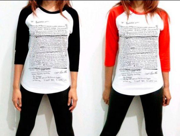 Retiran del mercado una camiseta que reproducía la nota de suicidio de Kurt Cobain