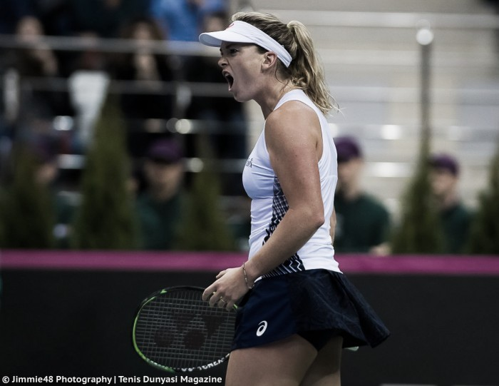 Fed Cup: Coco Vandeweghe gives USA the lead with an impressive win over Aliaksandra Sasnovich