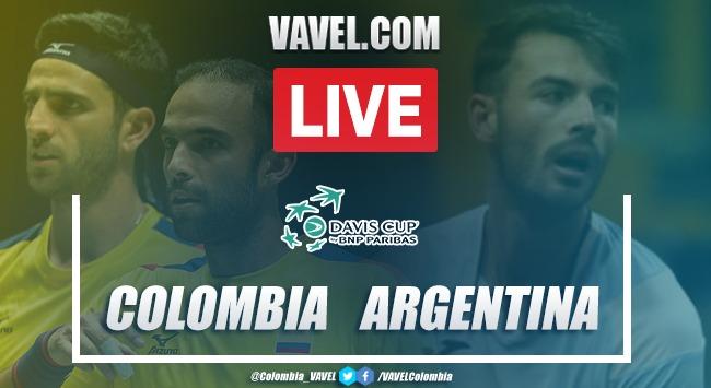 Resumen: Colombia 3-1 Argentina por la Copa Davis 2020