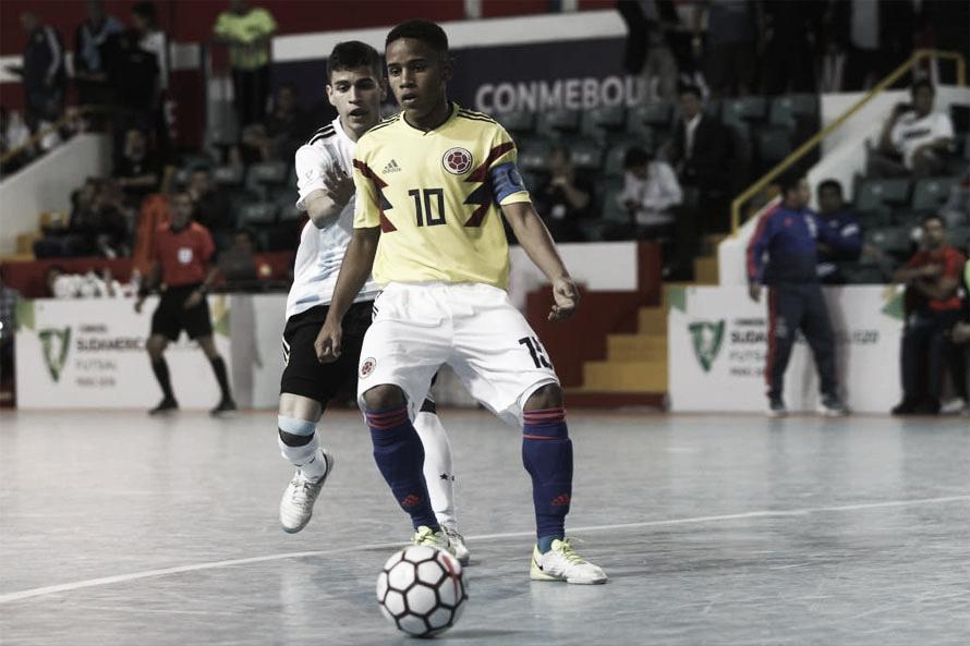 Colombia debutó con derrota ante Argentina en el sudamericano de futsal sub 20