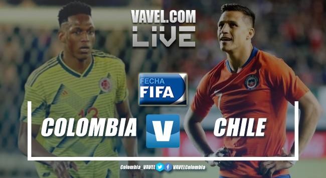 Resumen Colombia vs. Chile por partido amistoso (0-0)