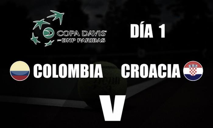 Copa Davis: primer día con saldo en tablas entre Colombia y Croacia