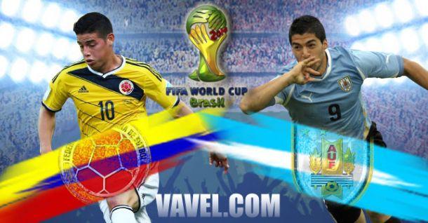 Live Colombia - Uruguay, Mondiali Brasile 2014 in Diretta
