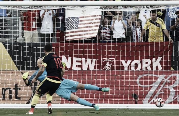 Colômbia vence Estados Unidos sem dificuldades na abertura da Copa América Centenário
