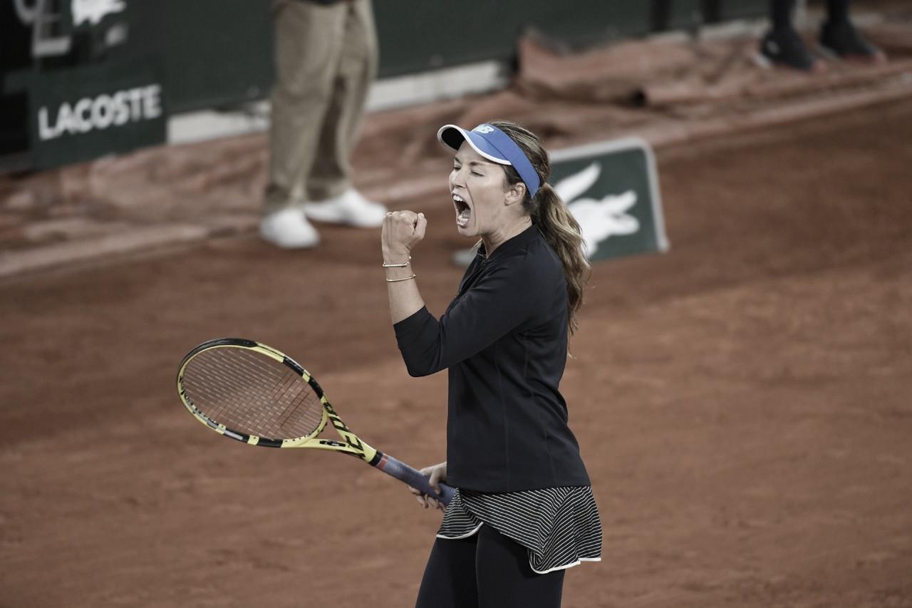 Collins surpreende, vira no terceiro set e elimina Muguruza em Roland Garros