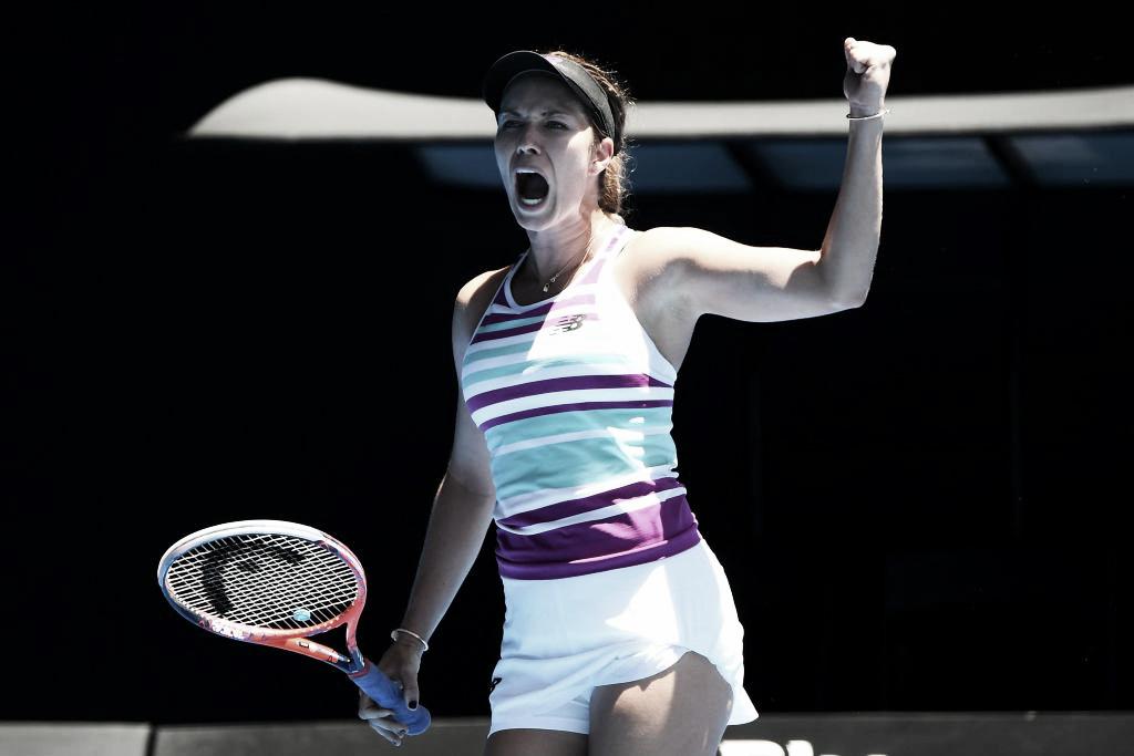 Upset alert: Collins vira contra Goerges e elimina primeira cabeça de chave no Australian Open