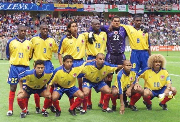Resultado de imagen para seleccion colombia 1998