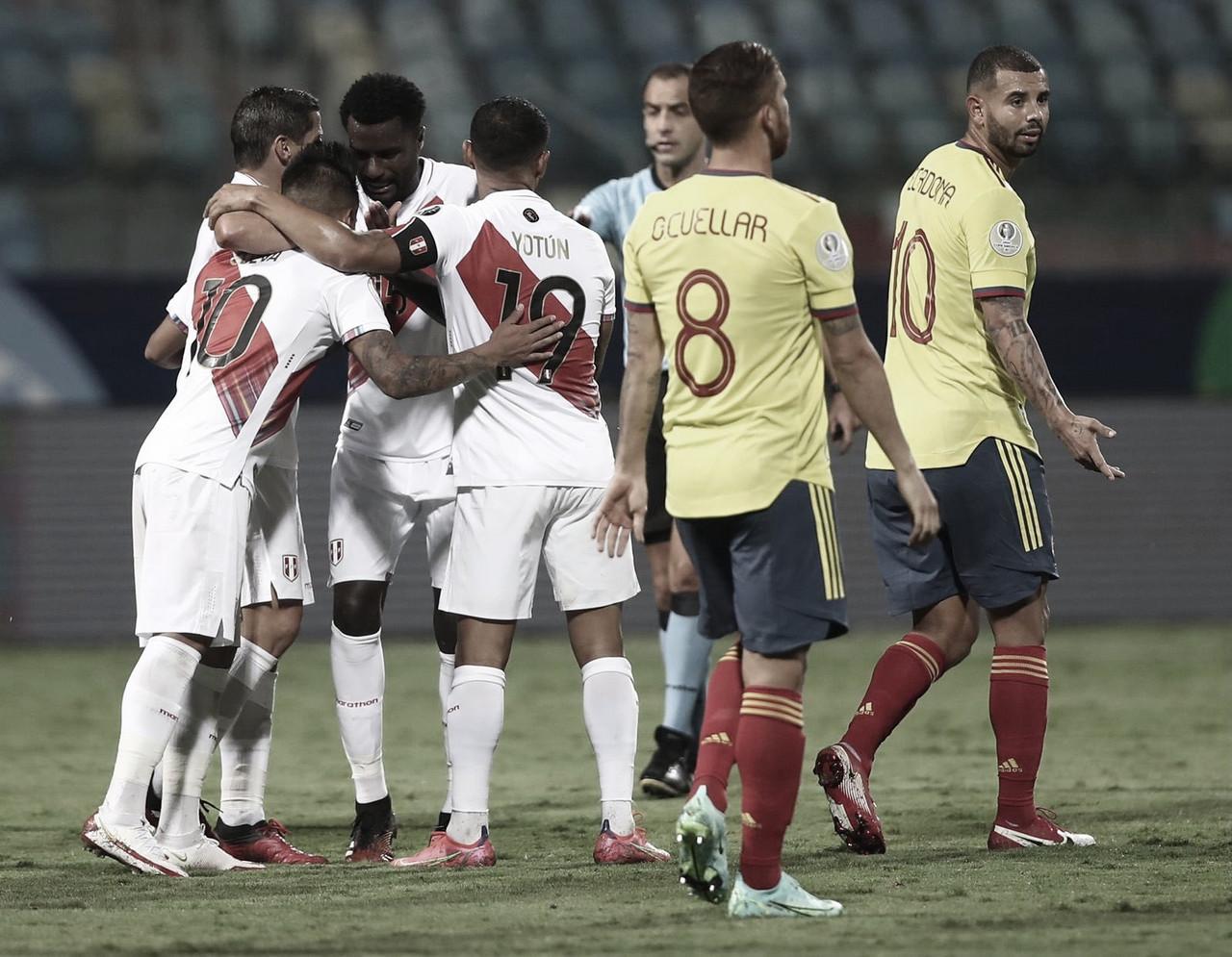 Peru quebra tabu de dez anos contra Colômbia e se reabilita na Copa América