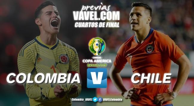 Previa Colombia vs Chile: duelo para definir al tercer clasificado a seminales