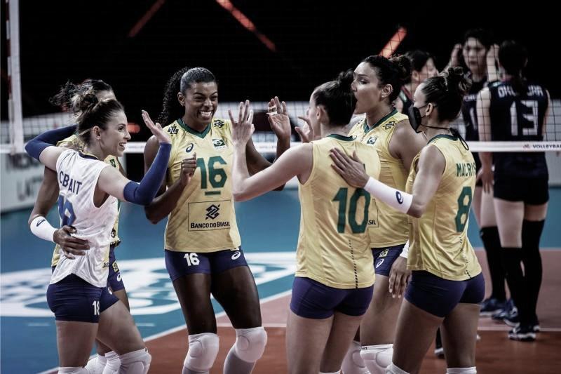 Brasil bate Japão, e Carol fala em 'melhor comunicação' da Seleção na Liga das Nações