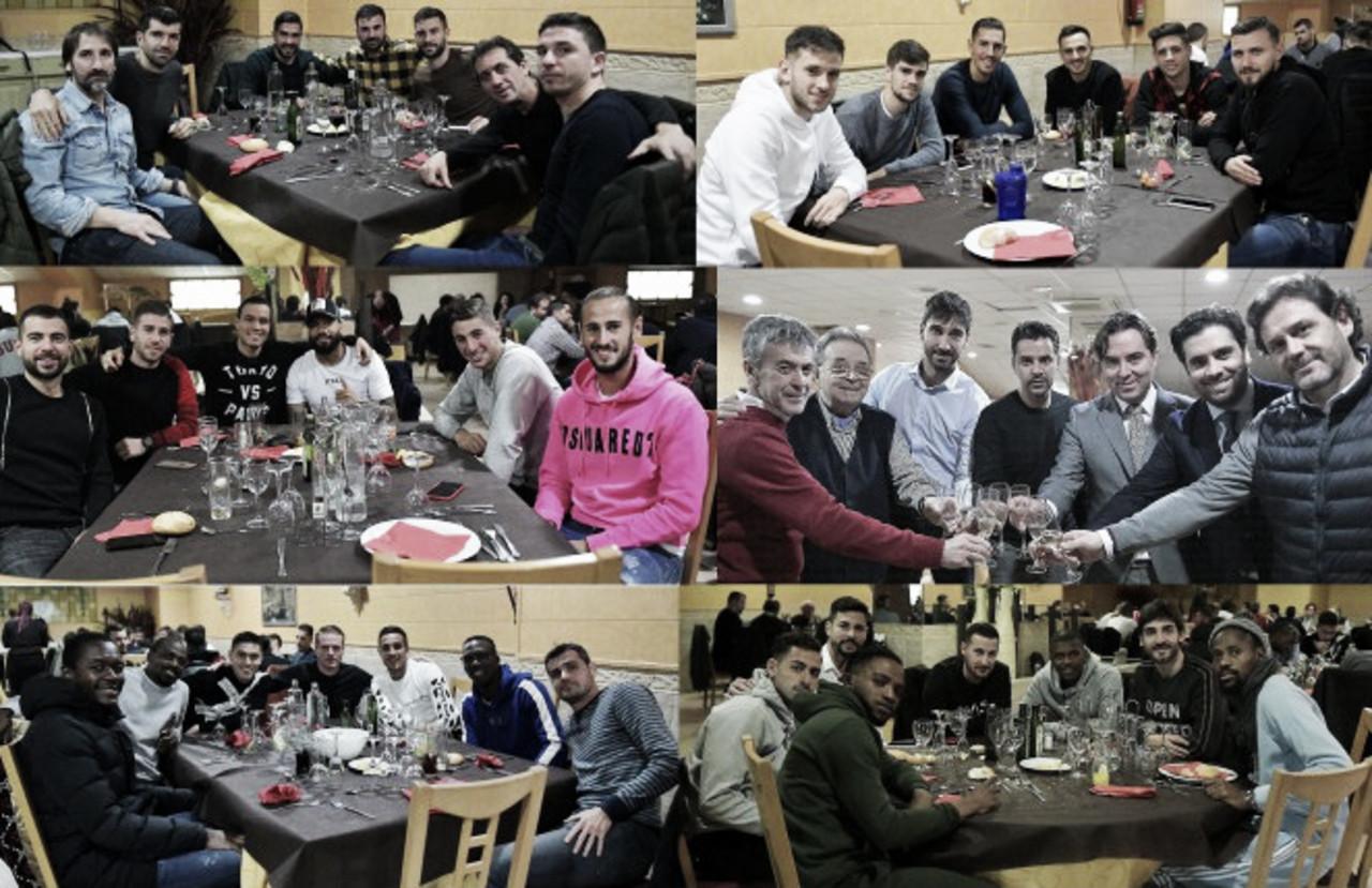 Comida de Navidad del primer equipo del Rayo Vallecano