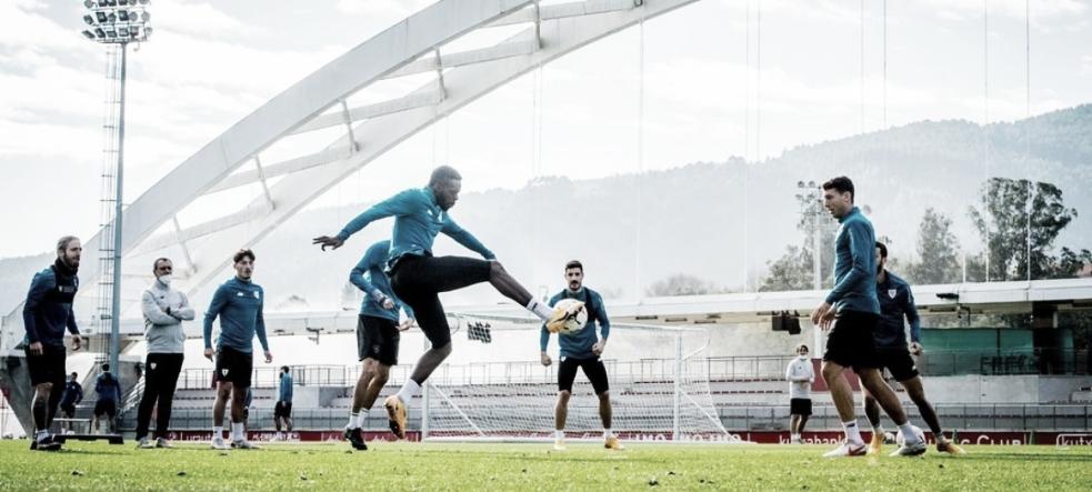Los jugadores entrenando en Lezama FUENTE: INSTAGRAM: @athleticclub