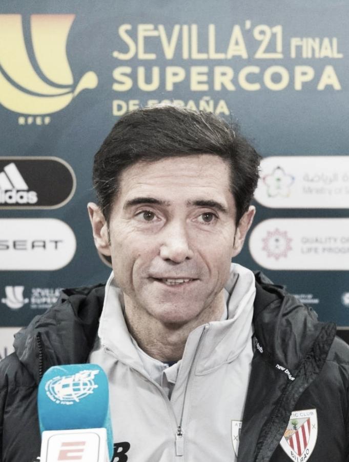 Marcelino en la Supercopa FUENTE: INSTAGRAM: @athleticclub